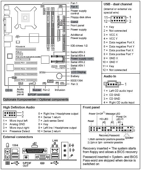 Fujitsu-Siemens D2438 Mainboard - 2